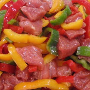 Sauteed pork with peppers